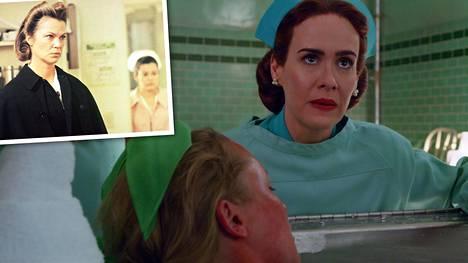 Yksi lensi yli käenpesän -elokuvan hurjin hahmo oli hoitaja Ratched (Louise Fletcher). Netflixin uudessa jännityssarjassa häntä näyttelee Sarah Paulson.