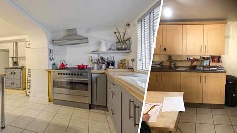 Chloe Carey, 47, halusi uuden ilmeen keittiöönsä. Täydellinen muodonmuutos onnistui pikkurahalla.