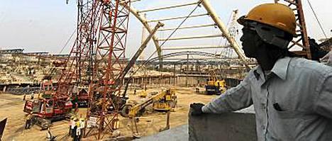 New Delhissä rakennustyöt ovat vaatineet kymmeniä kuolonuhreja.