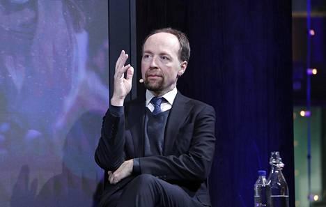 Perussuomalaisten puheenjohtaja Jussi Halla-aho
