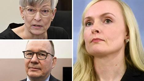 Sisäministeri Maria Ohisalo (vihr, kuvassa oikealla) aikoo nostaa Iltalehden tietojen mukaan Kirsi Pimiän (vihr) ministeriön korkeimpaan virkaan. Valinta sivuuttaisi hakijoista mahdollisesti tehtävään kokeneemman, kokoomustaustaisen Suojelupoliisin nykyisen päällikön Antti Pelttarin.