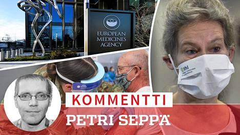 THL:n ylilääkäri Hanna Nohynek (oik.) linjasi tiedotustilaisuudessa keskiviikkona, että myös Pfizerin rokotteeseen aletaan noudata 12 viikon annosväliä, vaikka se on vastoin Euroopan lääkeviraston myyntilupaa.