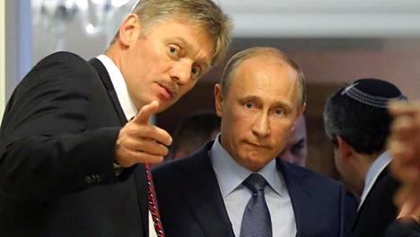 Lehdistöpäällikkö Dmitri Peskov otti vastuun presidentti Vladimir Putinin virheestä suorassa lähetyksessä.