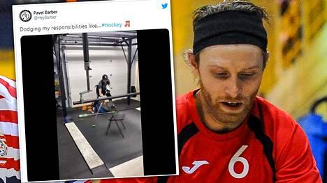 """Brandon """"Pavel"""" Barber on edustanut Kanadaa salibandyn MM-kilpailuissa, mutta mies tunnetaan paremmin Youtubessa ja muissa sosiaalisen median kanavissa jakamistaan kikkailuvideoista."""
