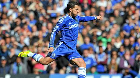 Eden Hazard laukoi Chelsean kolmannen maalin.
