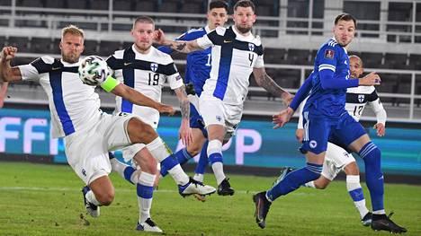 Huuhkajat pelasi 2–2-tasapelin Bosnia-Hertsegovinaa vastaan. Sunnuntaina odottaa vielä kovempi haaste.