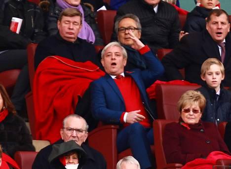Bercow seuraamassa Arsenalin peliä vuonna 2006. Puhemies on kannattanut joukkuetta vuosien ajan.