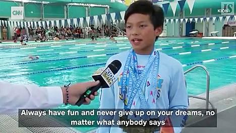"""10-vuotias """"Teräsmies"""" rikkoi Michael Phelpsin 23 vuotta vanhan ennätyksen"""