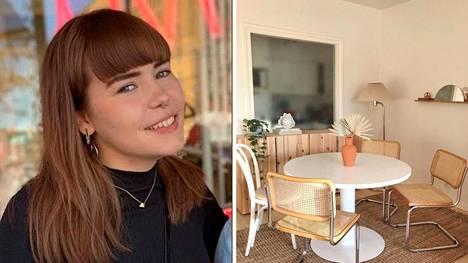 Sisustussuunnittelija Laura Luoto, 25, keksi kikan, jolla saa kulahtaneen rottinkituolin kuntoon.