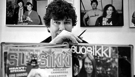 Legendaarinen Suosikin ex-päätoimittaja Jyrki Hämäläinen kuvattuna 5.4.1986.