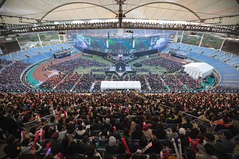 League of Legendsin vuoden 2018 MM-finaali kiinnosti Etelä-Koreassa. Stadionit ja areenat ovat alkaneet täyttyä viime vuosina entistä useammin.