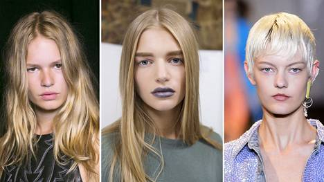 Blondi voi tarkoittaa melkeinpä mitä vain ruskeanharmaaseen taittavasta mushroom-blondista vitivalkoiseen platinablondiin.