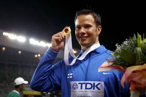 Osakan MM-kulta 2007 oli urallaan yhden olympia-, kolme MM- ja kolme EM-mitalia heittäneen Tero Pitkämäen kovin arvokisasaavutus.