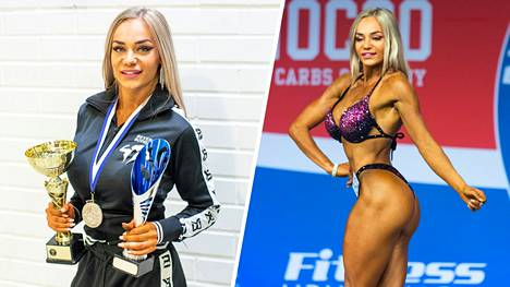 Iina Sirkkiö kisasi Fitness-lajien SM-kisoissa Nordic Fitness Expossa Turussa.