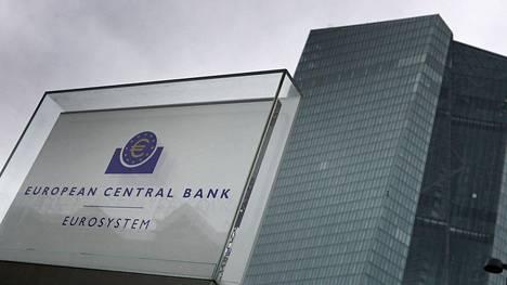 Euroopan keskuspankki Frankfurtissa Saksassa.