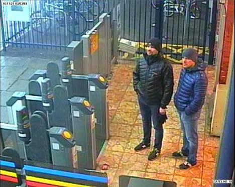 Petrov ja Boshirov tallentuivat valvontakameraan muun muassa Salisburyn rautatieasemalla.