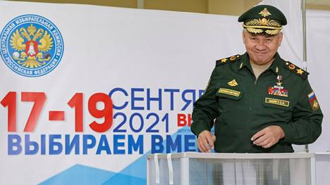 Yhtenäinen Venäjä -puolueen ykköskasvo näissä duumanvaaleissa on puolustusministeri Sergei Shoigu.