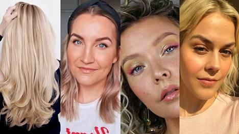Virve Fredman, Erika Naakka, Miia Johansson ja Eevaleena Liedes antavat omat tärppinsä hiustenhoitoon ja toimiviin hiustyyleihin.