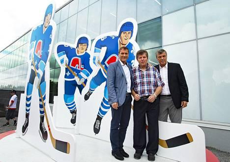 Anton, Marian ja Peter Stastny ovat suuria nimiä Quebecin jääkiekon historiassa.