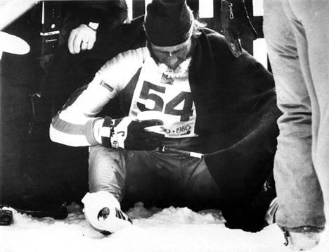 Juha Mieto jäi äärimmäisen niukasti kakkoseksi Lake Pladicin talviolympialaisissa 15 kilometrillä vuonna 1980.