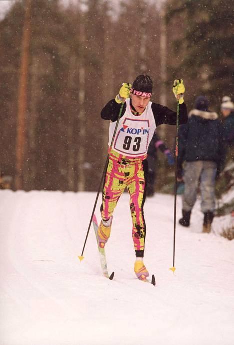 Kai Lippojoki vauhdissa vuonna 1993.