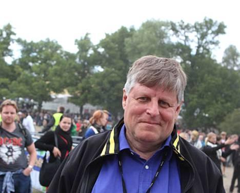 Juhani Merimaa Ruisrockissa sunnuntaina.