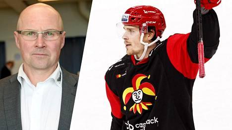 Ismo Lehkonen (vas.) näkee Mikko Lehtosella hyvät mahdollisuudet läpimurtoon NHL:ssä.