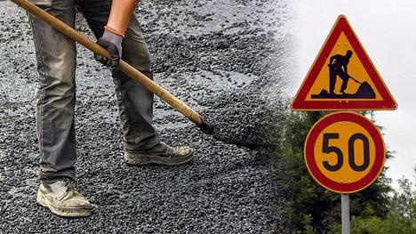 """Tien kunnostuksesta on Suomessa tarkat lait ja säännöt. """"Tien päällä voivat työskennellä ainoastaan sellaiset toimijat, joilla on oikeat kamppeet päällä, jotka ovat käyneet tieturvakurssin ja joiden koneista löytyvät tarvittavat vilkut sun muut, Etelä-Pohjanmaan ELY-keskuksen aluevastaava Veijo Rajamäki kertoo IS:lle."""