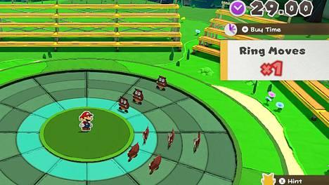 Paperi-Mario vastaan Origami-Goombat - tästä hupi alkaa.
