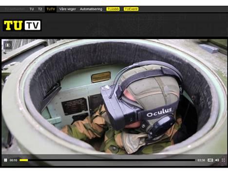Norjalainen TUTV esitteli videolla virtuaalisilmikon käyttöä.