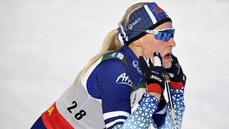 Anne Kyllösellä oli vaikeaa Lillehammerin viestissä.