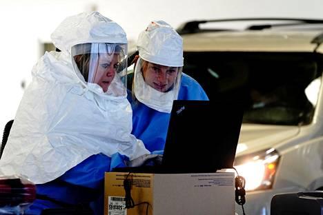 Sioux Fallsissa Etelä-Dakotassa käsiteltiin drive in -testipaikalla annettuja näytteitä lokakuun lopussa.