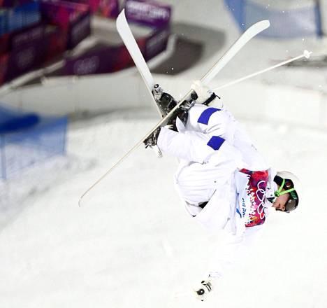 Jimi Salonen Sotshin olympialaisissa.