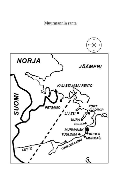 Veikko Erkkilältä saatu alueen kartta.