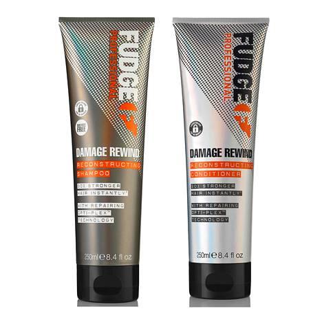 Fudge Professional Damage Rewind Reconstructing Shampoo, 26 € / 250 ml, ja Conditioner, 26 € / 250 ml.