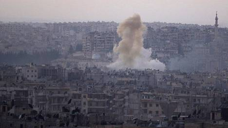 Aleppon kaupungissa Syyriassa on käyty viime päivinä laajoja taisteluita. Arkistokuva lokakuulta.
