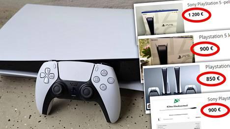 Playstation 5:stä pyydetään rajua ylihintaa netissä.