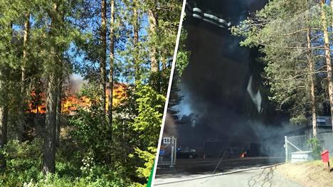 Jämsässä sijaitsevalla jätteenkäsittelylaitoksella syttyi tulipalo aamupäivällä.
