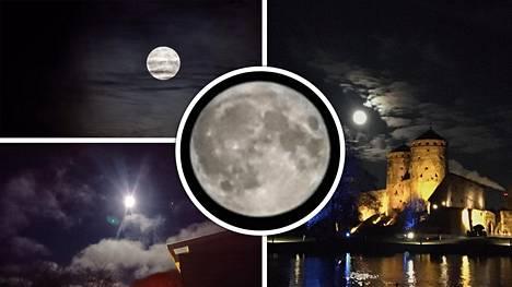 Lukijat innostuivat kuvaamaan näyttävää kuutamoa.