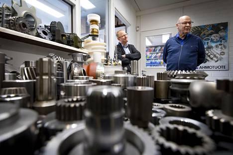 Kimmo ja Pertti Taskisen Ahmotuotteen koneistamat kone-elimet menevät 90 prosenttisesti vientiin. Yhtiö valmistaa noin 4000 erilaista osaa.