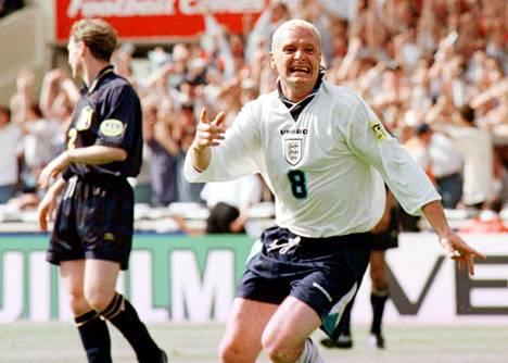 Paul Cascoigne oli iskussa EM-turnauksessa 1996.