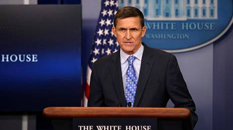 Michael Flynn puhui Valkoisessa talossa 1. helmikuuta 2017.