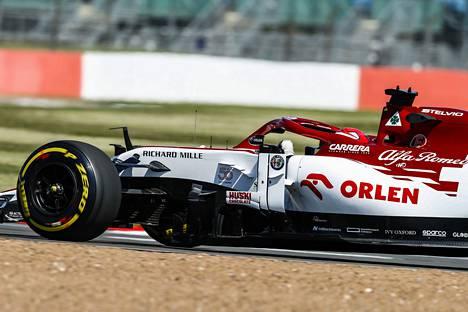 Alfa Romeon vauhti oli lupaavaa harjoituksissa.