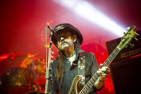 Lemmy Kilmister Hartwall Arenassa 6. joulukuuta.