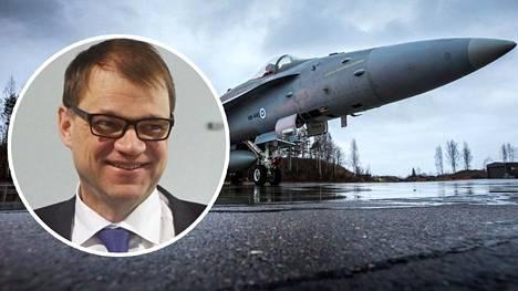 Juha Sipilä pääsee Hornetin kyytiin.