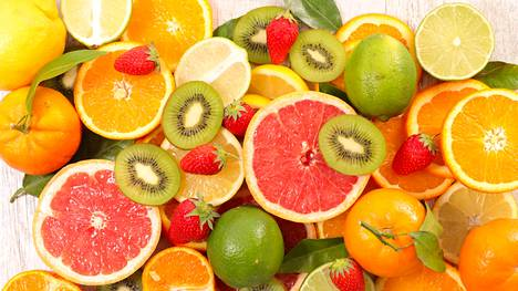 Kaliumia on etenkin hedelmissä ja kasviksissa.
