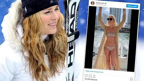 Lindsey Vonn osaa hiihtää rinteessä ja veneessä.
