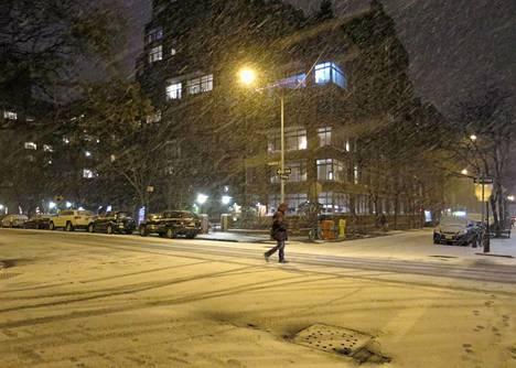 Tältä New Yorkissa näytti torstai-iltana.
