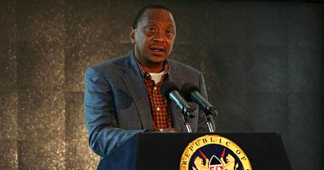 Kenian presidentti Uhuru Kenyatta.