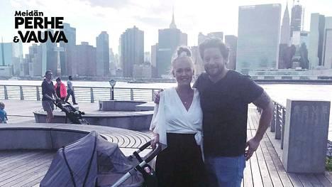 Krista ja Kevin muuttivat ennen vauvan syntymää Manhattanilta Long Island Cityyn.